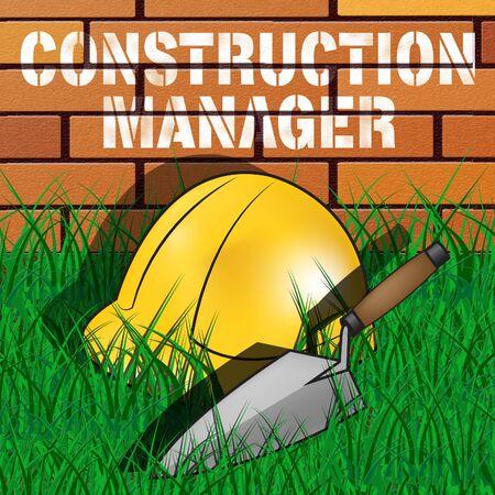 Construction Manager Builders Hat Shows Building Foreman 3d Illustration