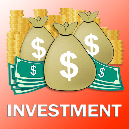 Investment Dollars Showing Trade Investing 3d Illustration Banco de Imagens