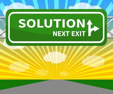 Oplossingsbord vertegenwoordigt het oplossen van succesvolle 3d illustratie