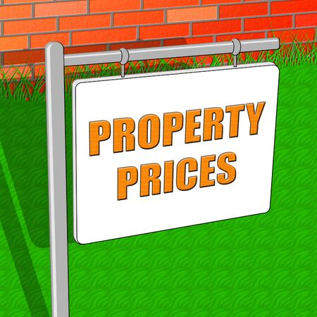 Property Prices Indicating House Cost 3d Illustration