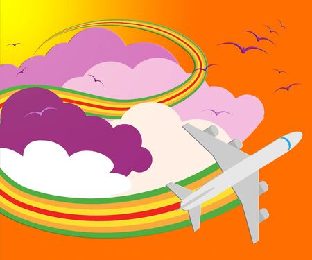 Travel Sites Plane Means Online Vacations 3d Illustration