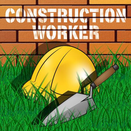 Construction Worker Builders Hat Represents Building Laborer 3d Illustration