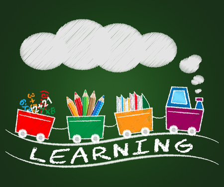 Learning Train Representing Training And Academic 3d Illustration