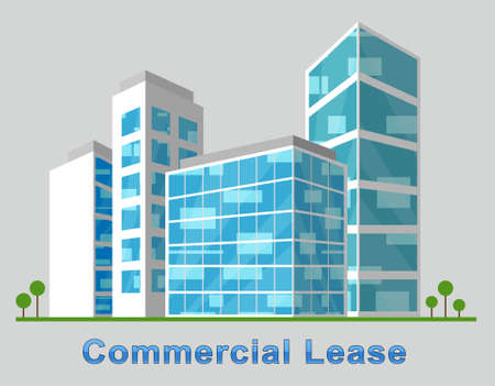 Commercial Lease Downtown Describes Real Estate 3d Illustration