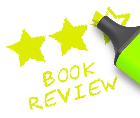 critique: Book Review Stars Represents Reviewing Fiction 3d Illustration Stock Photo