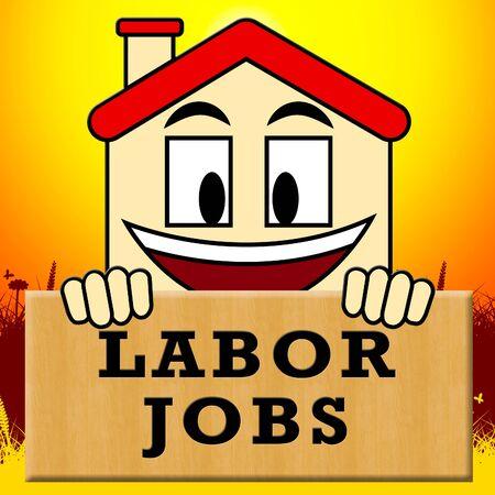 labourer: Labor Jobs Showing Construction Work 3d Illustration Stock Photo