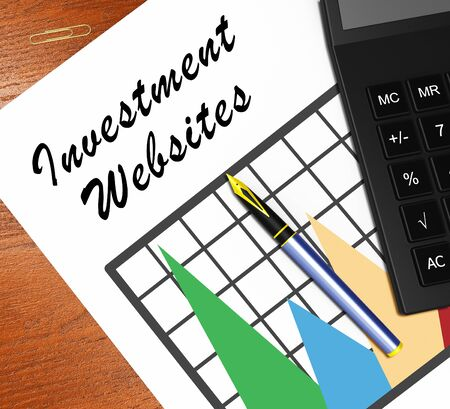 investor: Investment Websites Graph Meaning Investing Sites 3d Illustration