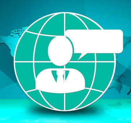 Speech Bubble Logo Means Copyspace Message 3d Illustration