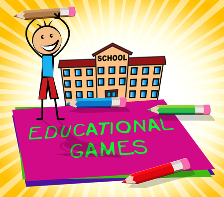Educational Games Paper Displays Learning Game 3d Illustration
