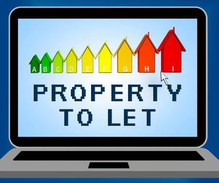 Property To Let Laptop Representing For Rent 3d Illustration