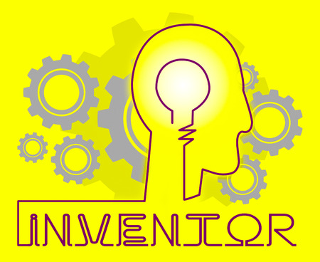 invents: Inventor Cogs Meaning Innovating Invents And Innovating Stock Photo