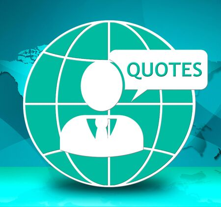 Quotes Icon Showing Inspiration Quotations 3d Illustration Stock fotó