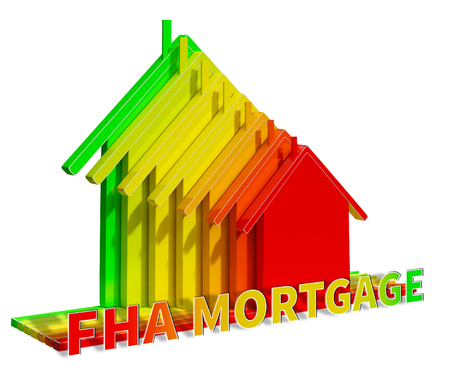 FHA Mortgage Eco House Shows Federal Housing Administration 3d Illustration