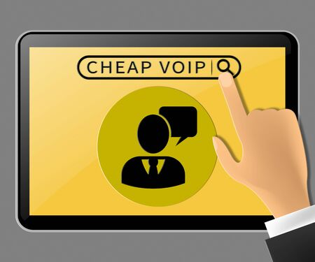 Cheap Voip Tablet Represents Internet Voice 3d Illustration