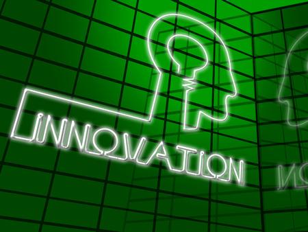 Innovation Head Shows Reorganization Transformation And Restructuring 3d Illustration
