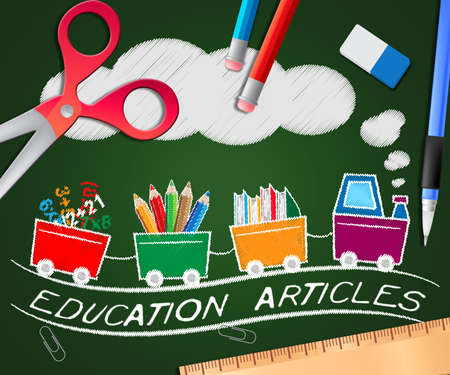 Education Articles Picture Indicating Learning Information 3d Illustration