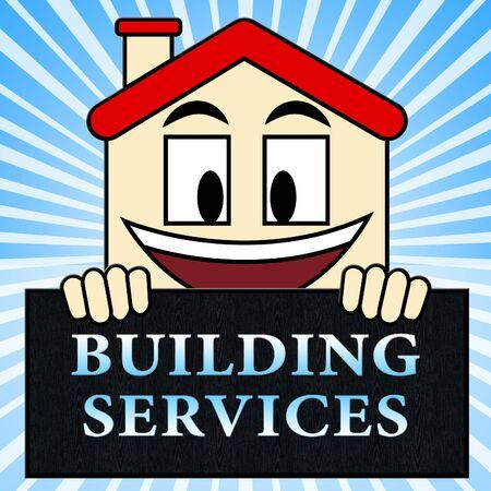 Building Services Shows Construction Work 3d Illustration