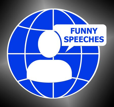 Funny Speeches Icon Meaning Witty Speech 3d Illustration
