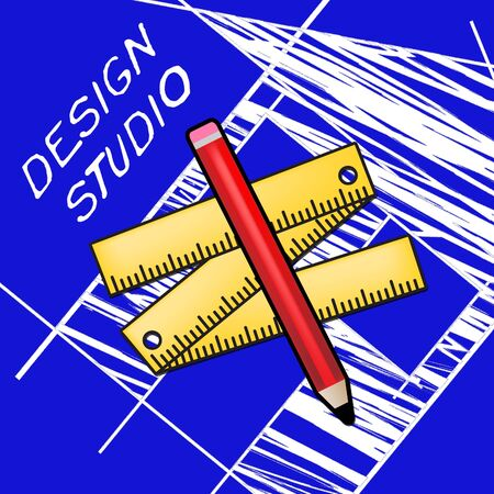 Design Studio Equipment Meaning Designer Office 3d Illustration