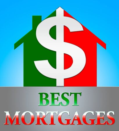 Best Mortgage Dollar Icon Represents Real Estate 3d Illustration