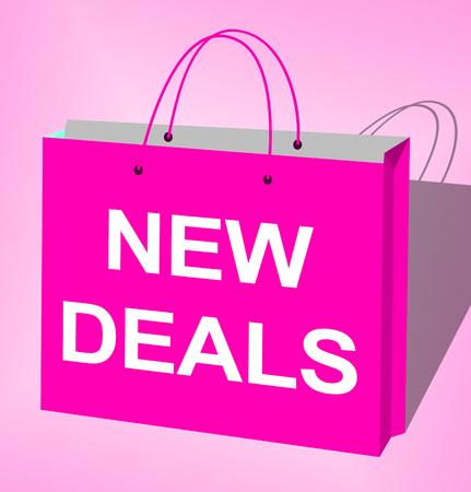 New Deals Bag Displays Latest Product 3d Illustration