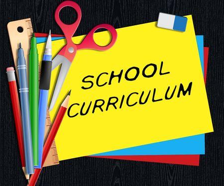 School Curriculum Showing Education Courses 3d Illustration