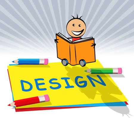 Creative Design Paper Displays Graphic Innovation 3d Illustration