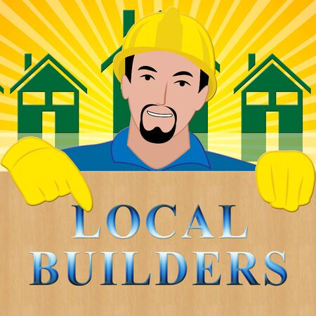 Local Builders Shows Neighborhood Contractor 3d Illustration