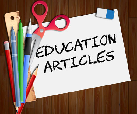 articles: Education Articles Indicating Learning Information 3d Illustration