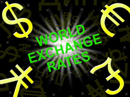 World Exchange Rates Symbols Indicating Foreign Exchange 3d