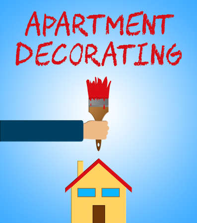 Apartment Decorating Paintbrush Meaning Condo Decoration 3d Illustration