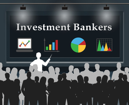 investor: Investment Bankers Showing Banking Investor 3d Illustration Stock Photo