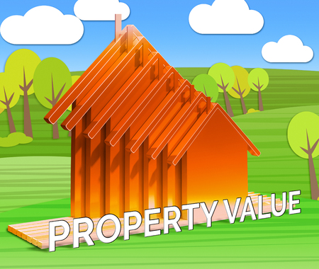 Property Value Houses Means House Prices 3d Illustration