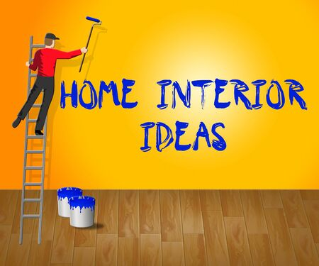 Home Interior Ideas Showing House 3d Illustration