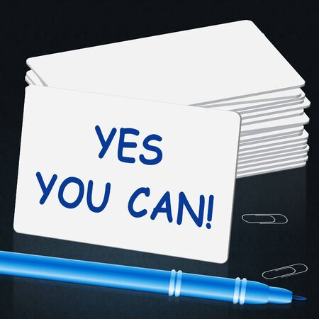 Yes You Can Means All Right 3d Illustration Imagens - 79714219