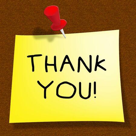 고마워요 감사 메시지를주는 의미 3D 일러스트 레이션 스톡 콘텐츠 - 79714229
