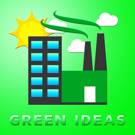 representing: Green Ideas Factory Representing Eco Concepts 3d Illustration Stock Photo