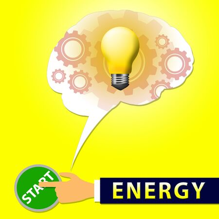 Energy Light Showing Electric Power 3d Illustration