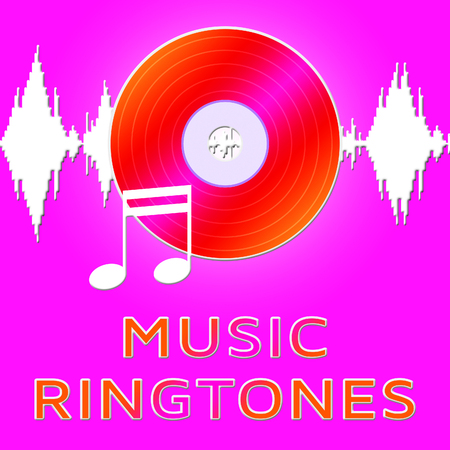 ringtones: Music Ringtones Dvd Means Telephone Melody Ring Tone Stock Photo
