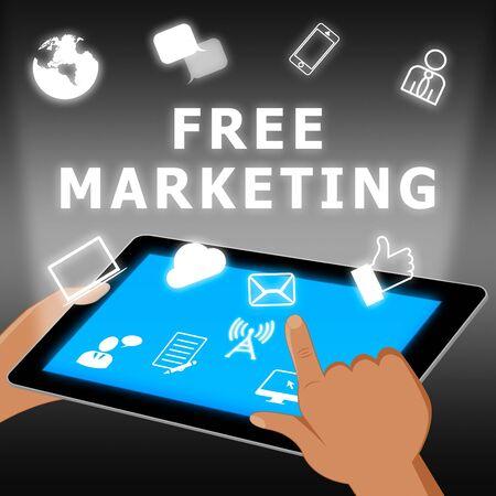 Free Marketing Represents Biz E-Marketing 3d Illustration Stock Photo