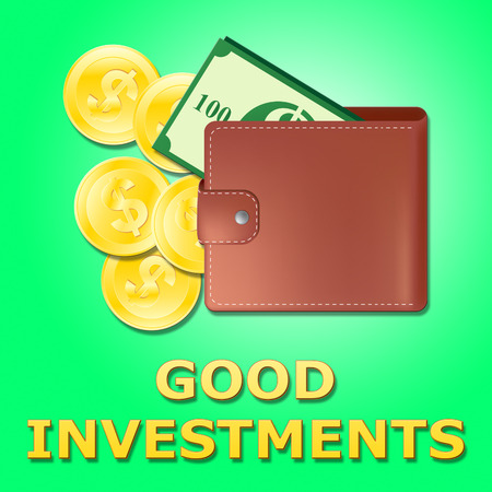 Good Investments Wallet Shows Trade Investing 3d Illustration