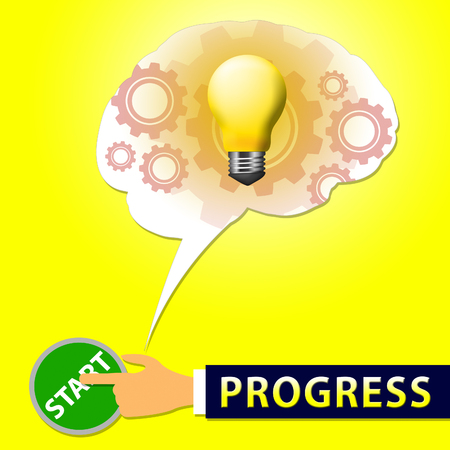 Progress Light Showing Improvement And Advancement 3d Illustration Stock Photo