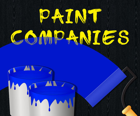 Paint Companies Displaying Painting Product 3d Illustration