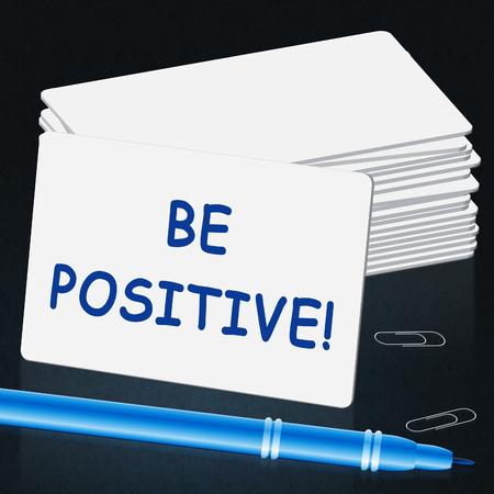 肯定的な番組楽観的考え方をする 3 d イラストレーション