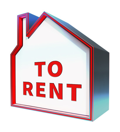 rentals: House To Rent Meaning Property Rentals 3d Rendering
