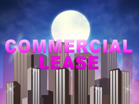 Commercial Lease Skyscrapers Means Real Estate Rental 3d Illustration Stock Photo