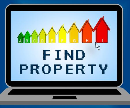 searches: Find Property Laptop Representing Home Search 3d Illustration