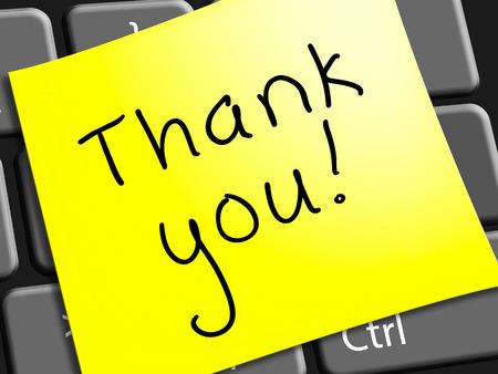 감사 노트주는 감사의 3d 일러스트를주는 것을 나타냅니다.