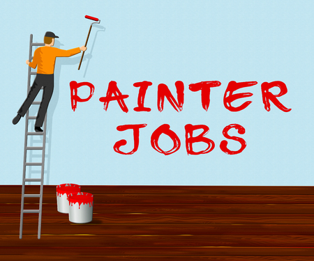 Painter Jobs Showing Painting Work 3d Illustration
