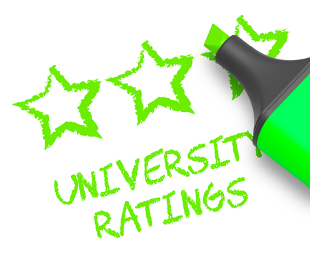 University Ratings Stars Means Performance Report 3d Illustration